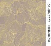 golden seamless pattern with...   Shutterstock .eps vector #1222788490