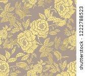 golden seamless pattern with...   Shutterstock .eps vector #1222788523