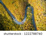 Aerial View Of Winding Road ...