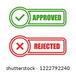 approved and rejected stamps | Shutterstock .eps vector #1222792240