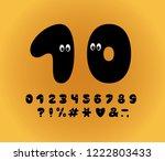 alphabet ghost design  cartoon... | Shutterstock .eps vector #1222803433