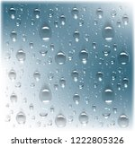 transparent drops of water on... | Shutterstock .eps vector #1222805326