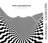 optical illusion lines... | Shutterstock .eps vector #1222811590