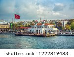 istanbul  turkey  ferry station ... | Shutterstock . vector #1222819483