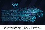 car on dark background. the car ... | Shutterstock .eps vector #1222819960
