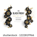 black friday sale poster with... | Shutterstock .eps vector #1222819966
