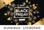 black friday sale poster with... | Shutterstock .eps vector #1222824343