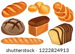 Vector Bread Icons Set. Long...