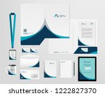 corporate identity template | Shutterstock .eps vector #1222827370