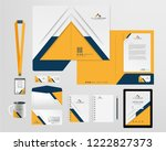 corporate identity template | Shutterstock .eps vector #1222827373
