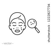 acne on skin icon  problem skin ... | Shutterstock .eps vector #1222827736