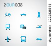shipment icons colored set with ...   Shutterstock . vector #1222828996