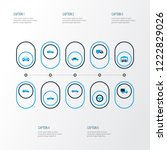 automobile icons colored set... | Shutterstock . vector #1222829026