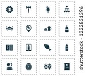 alcohol icons set with wine in... | Shutterstock .eps vector #1222831396