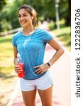 young attractive woman... | Shutterstock . vector #1222836706