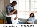 unhappy african american family ... | Shutterstock . vector #1222838173