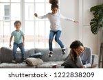 frustrated african american...   Shutterstock . vector #1222838209