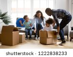 happy playful large african... | Shutterstock . vector #1222838233