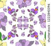 vector seamless pattern in art ... | Shutterstock .eps vector #1222840396