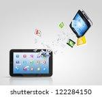 modern communication technology ... | Shutterstock . vector #122284150