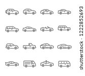 car vector line icon set | Shutterstock .eps vector #1222852693