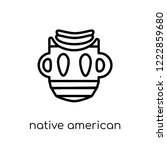 native american mask icon....   Shutterstock .eps vector #1222859680