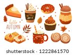 collection of pumpkin spice... | Shutterstock .eps vector #1222861570
