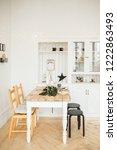 christmas table setting. bright ... | Shutterstock . vector #1222863493