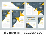 triangles abstract theme set...   Shutterstock .eps vector #1222864180
