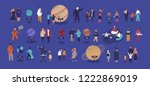 tiny people visiting... | Shutterstock .eps vector #1222869019