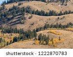 scenic teton autumn landscape   Shutterstock . vector #1222870783