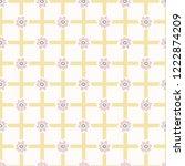 1950's style flower daisy...   Shutterstock .eps vector #1222874209