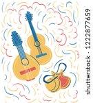 illustration of spanish... | Shutterstock .eps vector #1222877659
