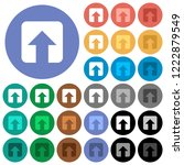 upload multi colored flat icons ... | Shutterstock .eps vector #1222879549