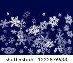 winter snowflakes border trendy ... | Shutterstock .eps vector #1222879633