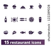 restaurant and food icons ... | Shutterstock .eps vector #122289028
