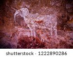 rock art painting in tsodilo... | Shutterstock . vector #1222890286
