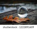 beautiful transparent glass... | Shutterstock . vector #1222891609
