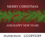 red background with wishes... | Shutterstock .eps vector #1222893289