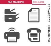 fax machine icons. professional ... | Shutterstock .eps vector #1222894273
