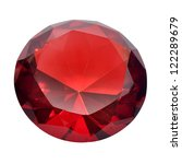 precious red diamond | Shutterstock . vector #122289679