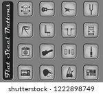 guitar and accessories vector... | Shutterstock .eps vector #1222898749