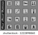 garden tools vector web icons... | Shutterstock .eps vector #1222898860