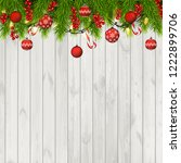 christmas background with fir... | Shutterstock .eps vector #1222899706