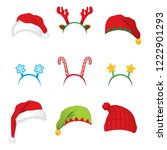 set of headbands and hats for... | Shutterstock .eps vector #1222901293