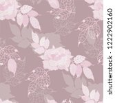 seamless pattern rose with...   Shutterstock .eps vector #1222902160