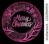 merry christmas lettering... | Shutterstock .eps vector #1222904953