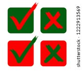 check mark yes   no icons in...   Shutterstock .eps vector #1222913569