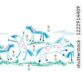 vector seamless pattern with... | Shutterstock .eps vector #1222914409