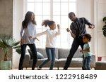 happy african american having... | Shutterstock . vector #1222918489